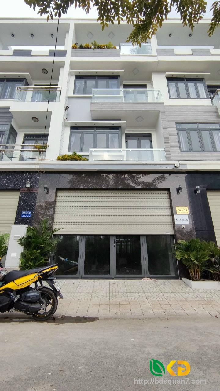 Nhà phố sang trọng 3 lầu ST đường 8m khu dân cư Anh Tuấn GRS Huỳnh Tấn Phát .