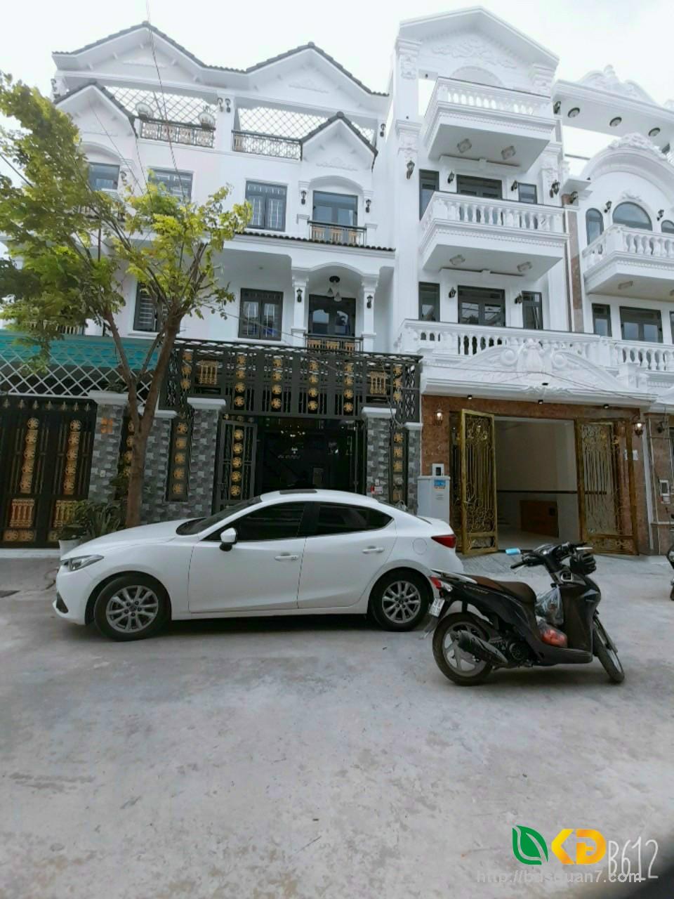 Nhà mẩu biệt thự khu dân cư Anh Tuấn GRS Huỳnh Tấn Phát  Nhà Bè.