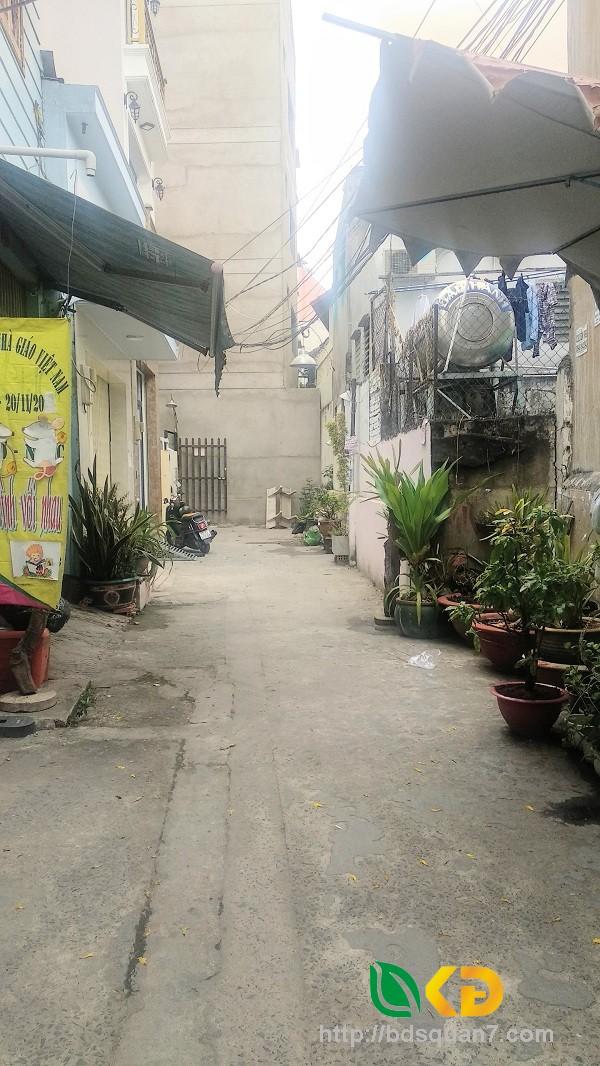 Cho thuê nhà hẻm 793(Kiều Đàm) đường Trần Xuân Soạn Quận 7